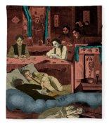Chinatown Opium Den Fleece Blanket