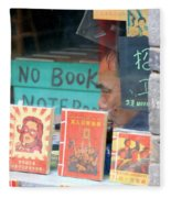 Chinese Bookstore Fleece Blanket