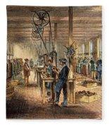 Chinese Workers, 1870 Fleece Blanket