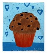 Chocolate Chip Cupcake Fleece Blanket