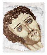 Cholera Victim, 1831 Fleece Blanket