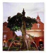 Christ Church In Melaka In Malaysia Fleece Blanket