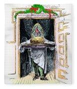 Christmas Pudding, 1882 Fleece Blanket