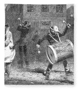 Christmas Waits, 1853 Fleece Blanket