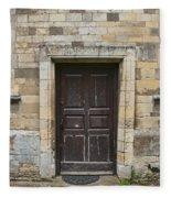Church Doors Fleece Blanket