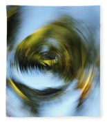 Circular Palm Blur Fleece Blanket