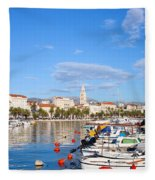 City Of Split In Croatia Fleece Blanket