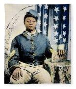 Civil War: Black Soldier Fleece Blanket