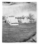 Civil War: Union Camp, 1863 Fleece Blanket