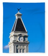 Clarksville Historic Courthouse Tower Fleece Blanket