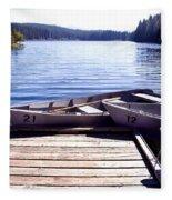 Clear Lake At Mckenzie Pass Fleece Blanket