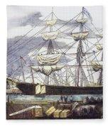 Clipper Ship, 1851 Fleece Blanket