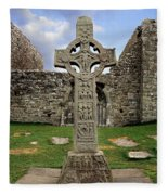 Clonmacnoise, Co. Offaly, Ireland Fleece Blanket