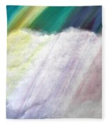 Cloud Within Rainbow Fleece Blanket