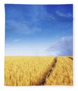 Co Carlow, Ireland Barley Fleece Blanket