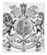 Coat Of Arms: Great Britain Fleece Blanket