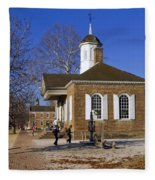 Colonial Williamsburg Courthouse Fleece Blanket