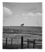 Colorado Crude - Bw Fleece Blanket
