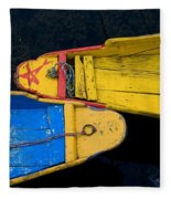 Colorful Boats, Srinagar, Dal Lake Fleece Blanket