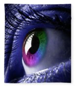 Colorful Eye Fleece Blanket