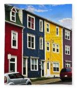 Colorful Houses In St. John's Newfoundland Fleece Blanket
