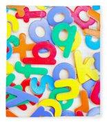 Colorful Letters Fleece Blanket