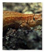 Common Lizard Fleece Blanket