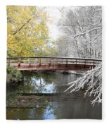 Composite Of Fall And Winter Fleece Blanket