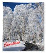 Country Christmas 1 Fleece Blanket