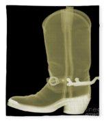 Cowboy Boot X-ray Fleece Blanket