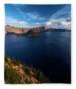 Crater Lake Blues Fleece Blanket