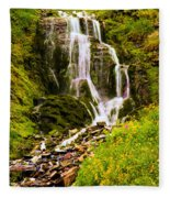 Crater Lake Falls Fleece Blanket