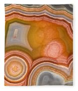 Cross-section Of Mexican Agate Fleece Blanket