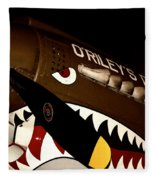 Curtiss P-40n Warhawk Fleece Blanket