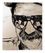 Dale Earnhardt Sr In 1995 Fleece Blanket