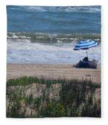 Day At The Beach Fleece Blanket