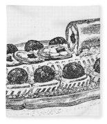 Decorative French Cuisine Fleece Blanket
