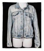 Denim Jacket Fleece Blanket