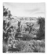 Desert Greenery Fleece Blanket