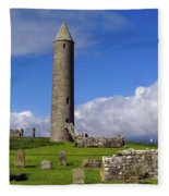 Devenish Monastic Site, Co. Fermanagh Fleece Blanket