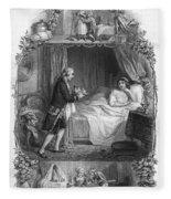 Dining, 19th Century Fleece Blanket
