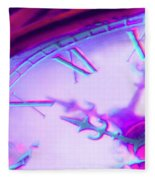 Distorted Time Fleece Blanket
