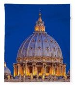 Dome San Pietro Fleece Blanket by Brian Jannsen