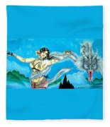 Dragon Dancer Fleece Blanket