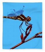 Dragonfly Art Fleece Blanket