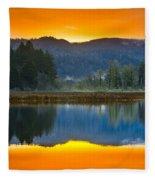 Dry Lagoon Dawn Fleece Blanket