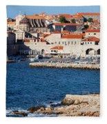 Dubrovnik Old City Architecture Fleece Blanket