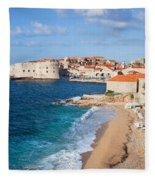 Dubrovnik Scenery Fleece Blanket