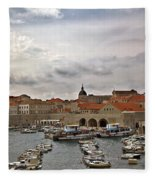 Dubrovnik View 5 Fleece Blanket