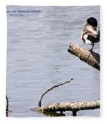 Duck On A Log Fleece Blanket
